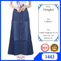 Rok Jeans / Rok Panjang Jeans Remaja Dan Dewasa Bahan Soft