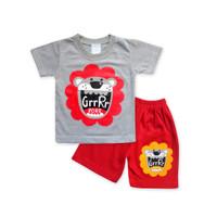 WakaKids Baju Anak Laki Laki Tangan Pendek Kaos Lion 2953