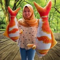 Bantal Bentuk Ikan Koi Velboa Printing
