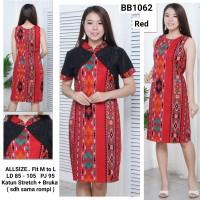 Dress Batik Wanita lengkap dgn Rompi / Batik Wanita Fashion