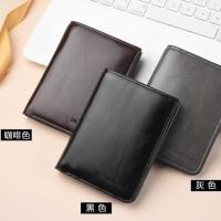 Dompet Kulit DEABOLAR DL077 / Dompet Lipat Pria Pendek / Wallet Kulit