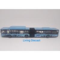 Diecast Articulated bus - MAN Lion City bus (Blue color)