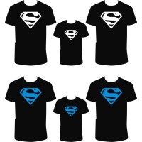 Kaos Couple Keluarga Superman