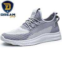 Sepatu Sneakers Pria IMPORT Terbaru Mesh V447 / Sepatu Jogging Sport - Snow White, 43