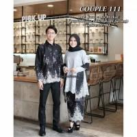 Batik couple,batik keluarga, sarimbitan setelan muslim resmi Srg 111