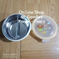 Ori Korea GIG Lunch Box Stainless Round Pembatas 270ml Ready Stock