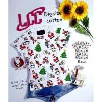 Kaos LCC Full Christmas White Big Size