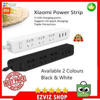 Stop Kontak Xiaomi Mi Smart Power Strip Colokan Adaptor 3 Usb Port - Putih