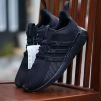 ORIGINAL sepatu running Adidas Questar Ride Flow All Full Black BNWB