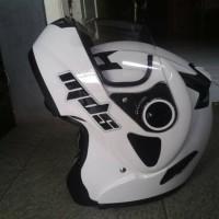 helm MDS PRO RIDER WHITE FLIP MODULLAR fullface pro rider