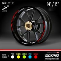 "Cutting Stiker List Velg Motor Yamaha Mio Nmax Aerox 14 15"" V035"