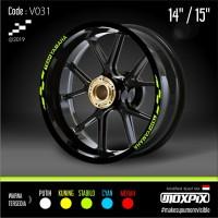"Cutting Stiker List Velg Motor Yamaha Mio Nmax Aerox 14 15"" V031"