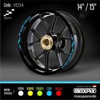 "Cutting Stiker List Velg Motor Yamaha Mio Nmax Aerox 14 15"" V034"