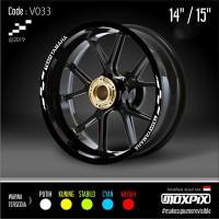 "Cutting Stiker List Velg Motor Yamaha Mio Nmax Aerox 14 15"" V033"