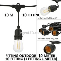 FITTING LAMPU OUTDOOR 10 FITTING 10M E27 10 M fiting kabel 10 METER F3
