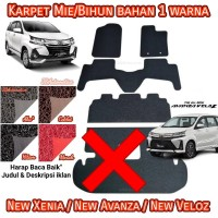 Karpet Mie Great New Avanza/Xenia/Veloz 2019 - 1 warna Non Bagasi