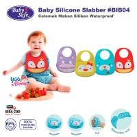 Baby Safe Silicone Bib Slabber Celemek Makan Bayi Silikon BIB04
