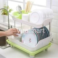 Rak Piring Pengering Cucian Dapur Praktis Serbaguna Plastik RD005