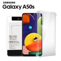 Premium Soft Case Samsung Galaxy A50s Clear - Anti Crack Glass Pro