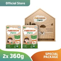 Paket 2 Box PUREGROW Organic - Susu Formula Organik 1-3 thn 360gr Girl