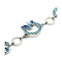 Glamorousky Bracelet Gelang Blue Kupu-Kupu