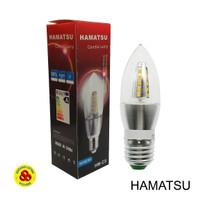 Lampu LED Candle 5W Putih E27 Clear Bohlam Jantung 5 Watt 6500K CDL