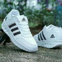 DISKON!!! Sepatu Wanita Kets Casual SDS237 Putih List Hitam - Putih,