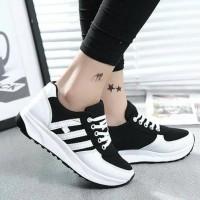 PROMO!!! Sepatu Wanita Kets Casual Strip SDS140 - Hitam, 37 DISKON!!!