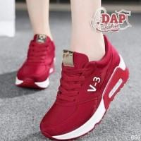 HOT SALE Sepatu Wanita Kets Airmax V3 Casual V-3 SDS179 - Hitam, 37