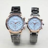DISKON!!! Jam tangan ALBA COUPLE RANTAI TYPE HITAM DISKON!!!