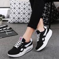DISKON!!! Sepatu Wanita Kets Casual SDS144 - Hitam, 37 DISKON!!!