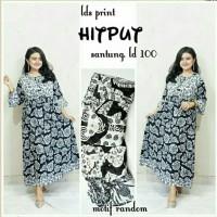 Gamis rayon murah / gamis menyusui / longdress batik / baju hamil mono