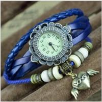 Jam Tangan Gelang Model Vintage Dengan Liontin Hati Untuk Wanita