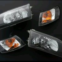 TOYOTA COROLLA GREAT KRISTAL BLACK HEADLAMP LAMPU BESAR car mods