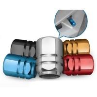 F36 4pcs Tutup Pentil Ban Mobil Ban Motor Ban Sepeda Valve Nozzle Cap