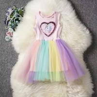 dress unicorn rok tutu pelangi for baby girl and kids