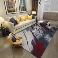 Karpet Handtuft Premium Wool Mewah Modern D009 GrayRed 200x300 cm