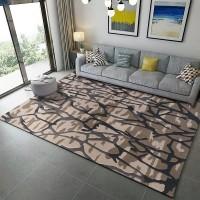 Karpet Handtuft Premium Wool Mewah Modern D010 Gray 160x230 cm