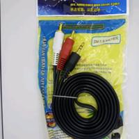 kabel rca 2 ke 1 mini stereo Aux 2 in 1
