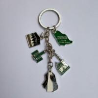 Gantungan kunci Makkah huruf souvenir dari negara Saudi Arabia