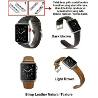 Tali Jam strap kulit natural Apple watch leather strap 38mm 40 mm