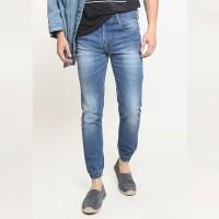 2Nd RED Jogger Jeans Pria Bahan Elastis Biru 112605