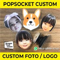 Popsocket Akrilik Custom Print Foto Logo | Acrylic Pop Socket Souvenir