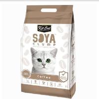 Kit Cat Tofu Soya Clump Litter 7L Coffee Pasir Kucing Gumpal Kopi