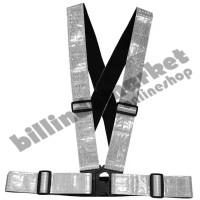 Vertical Reflective Safety Vest Safety Reflective Strap Grey Abu-Abu