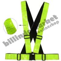 Vertical Reflective Safety Vest Safety Reflective Strap Hijau Stabilo