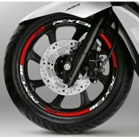 Stiker Velg motor Honda PCX ring 14 warna merah putih