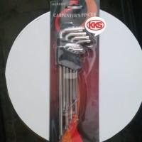 Kunci L Bintang Panjang Set 9 Pcs Winson