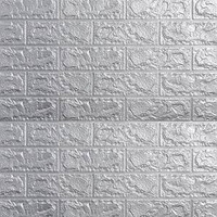 WALLPAPER 3D ZT0108 BRICK FOAM GREY WALLPAPER DINDING BATU BATA ABU