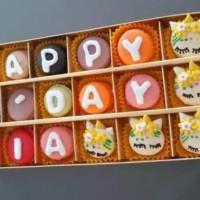 kue Baby Macaroon Happy Birthday 18 pcs